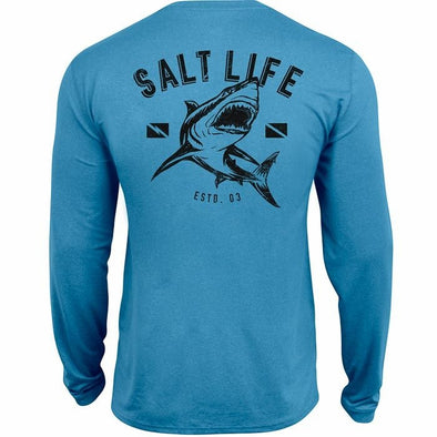 Salt Life Youth Shark Dive Performance Long Sleeve Tee Shirt.