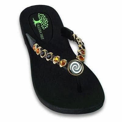 Footwear Figuera Tree Women's Black Spiral Beaded Thong Sandal - Shop The DocksFiguera Tree Footwear