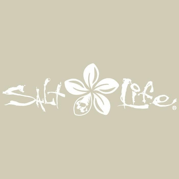 Decal Salt Life Signature Plumeria Decal - Shop The DocksSalt Life Decal