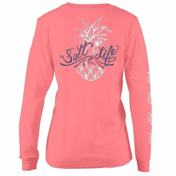 Apparel Salt Life Women's Signature Pineapple Long Sleeve Shirt - Shop The DocksSalt Life Apparel