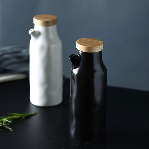 Ceramic oil & vinegar bottles