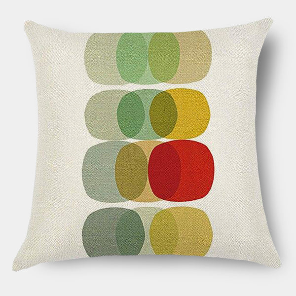 Modern graphic abstract colour linen cushions - sofa, bedroom