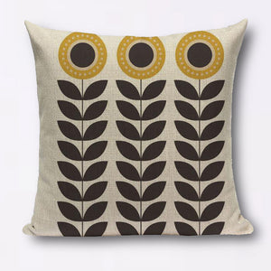 Modern geometric graphic small flower cushions