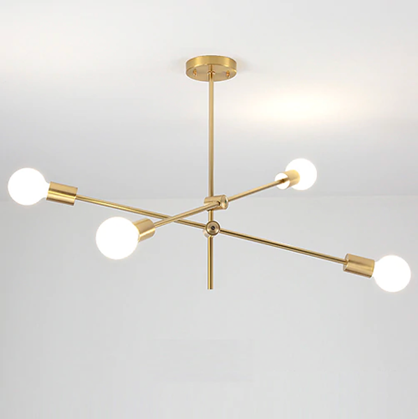 Modern retro sputnik gold chandelier ceiling light