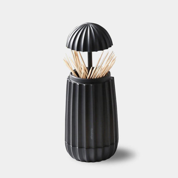 Black pop-up toothpick jar