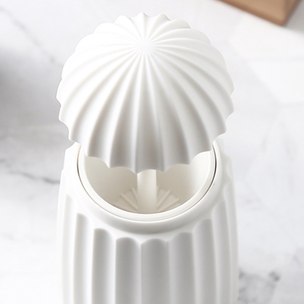 White pop-up toothpick jar