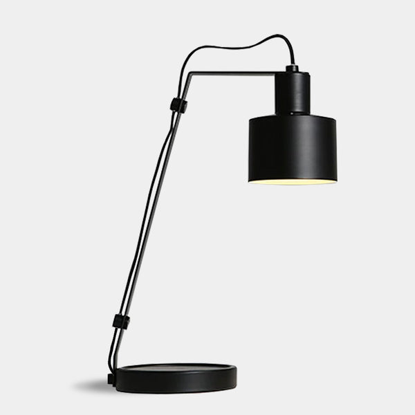 Modern minimalist scandi table desk home office lamp - Black, White, Khaki