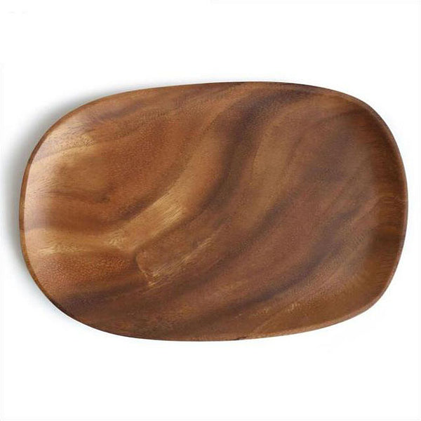 Organic shaped acacia wooden trays / plates