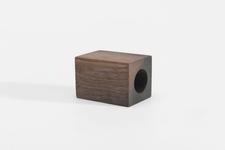 Contempoary wood block vases