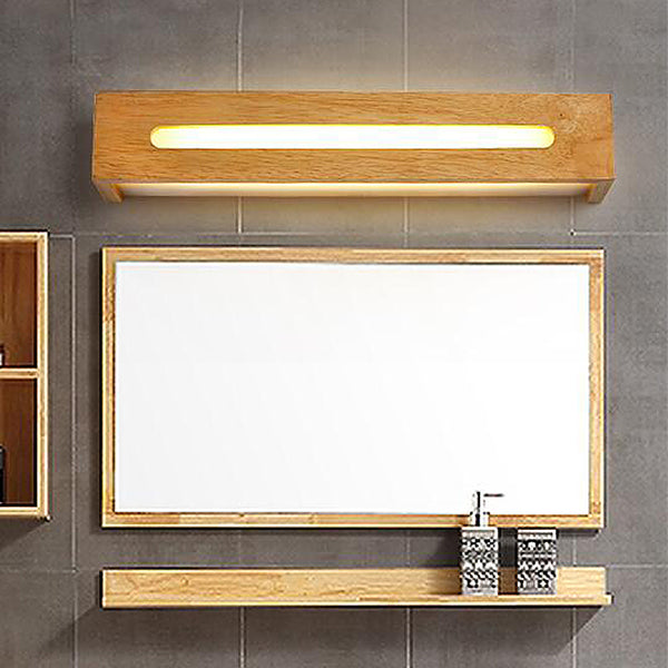 Modern oak wall light