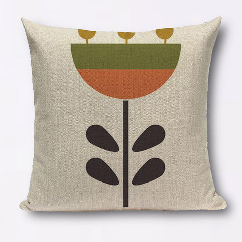 Modern geometric graphic large single flower cushions