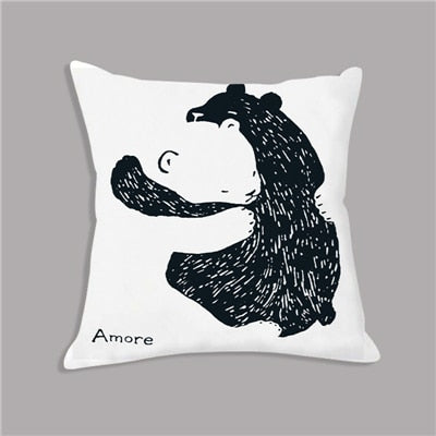 Polar bear soft childrens animal cushions