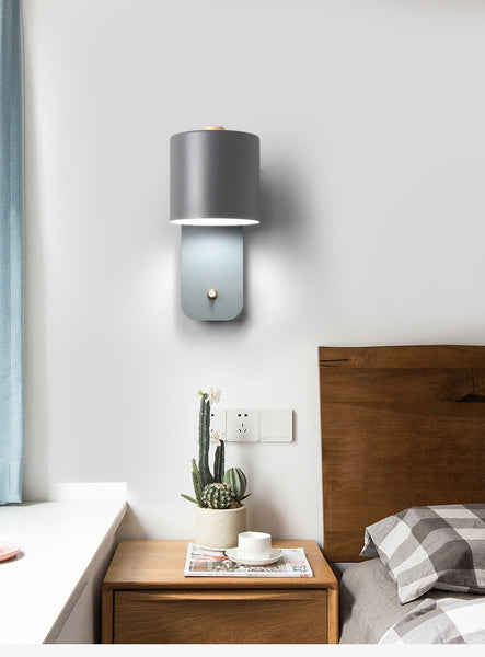 Modern stylish bedroom wall lights with switch
