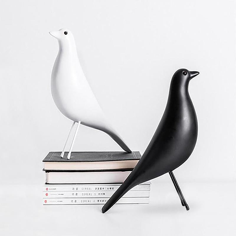 Black and white wooden nordic eames style birds