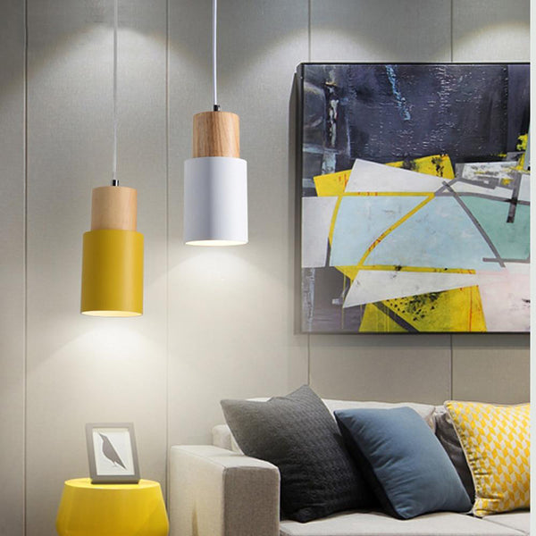 Modern coloured scandi pendant lights