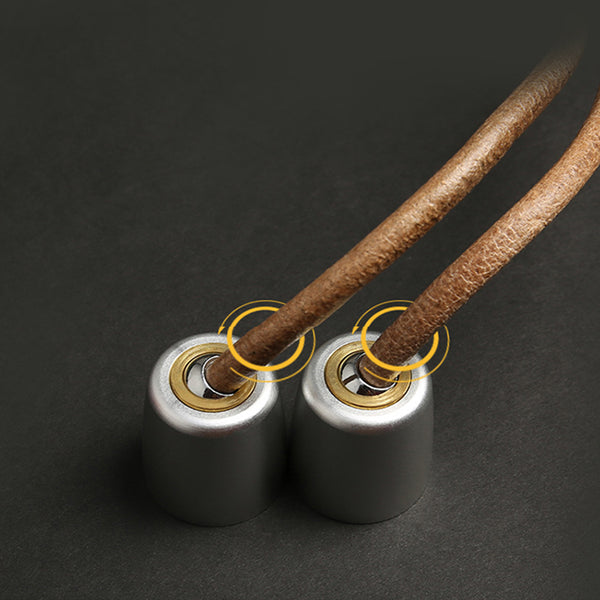 Luxury exercise wooden and leather skipping rope
