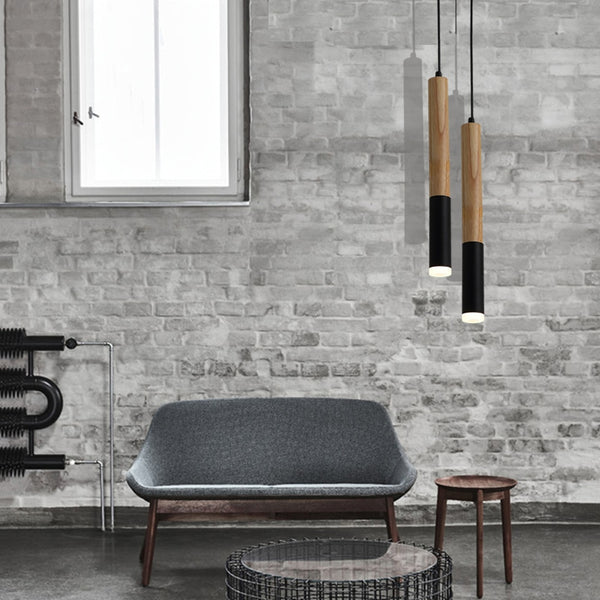 Black and white modern suspension pendant lights