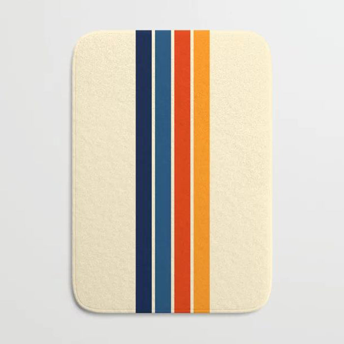 Retro stripe bath mat