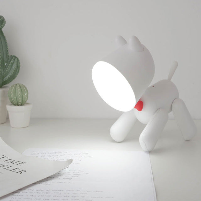Childrens rechargeable puppy night light