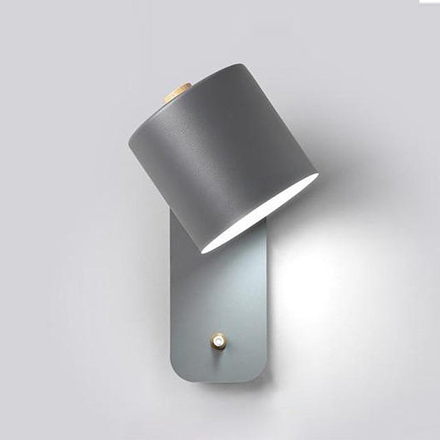 Modern stylish bedroom wall lights with switch - Grey, Green, White