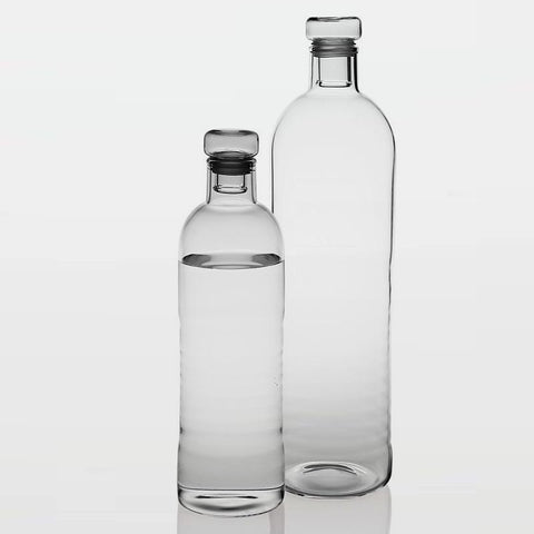 Contemporary glass table water bottles - 500ml and 1 litre