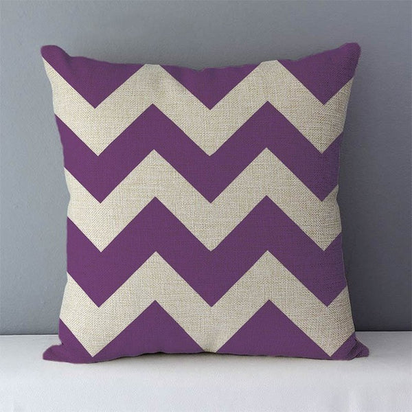Modern purple geometric cushions
