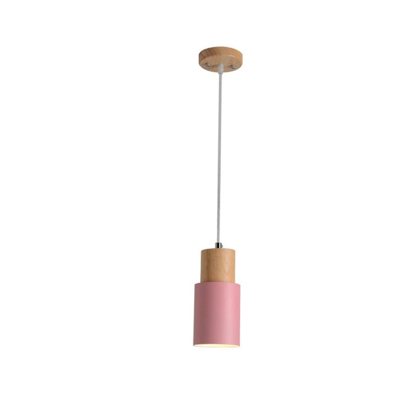 Pink scandi pendant lights