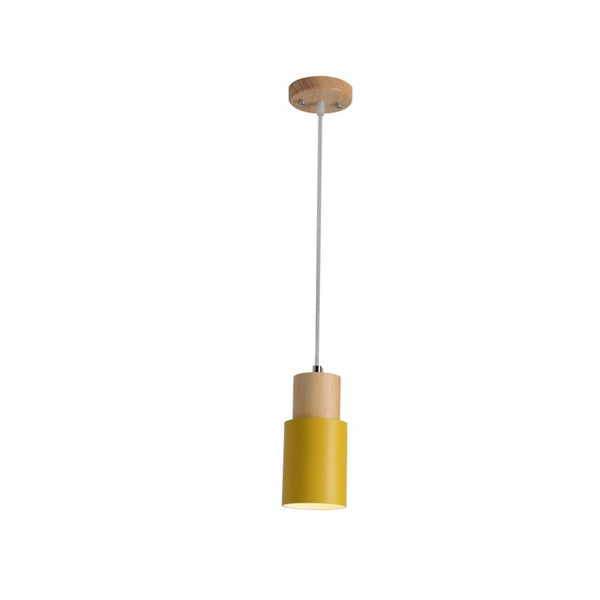 Yellow scandi pendant lights