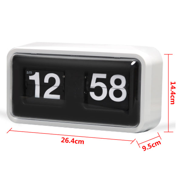 White retro flip wall clock