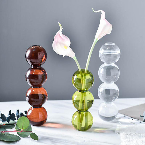 Retro Bubble Glass Vase