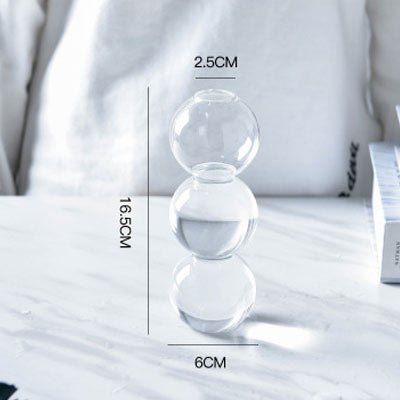 Retro Bubble Clear Glass Vase