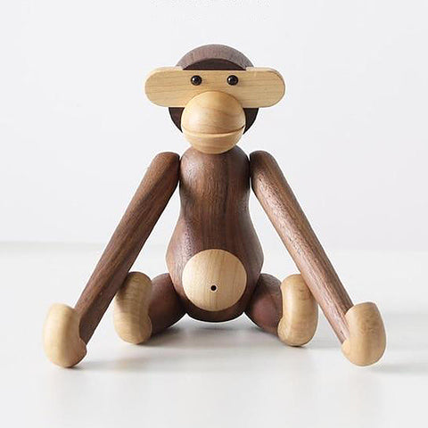 Hanging wooden monkey