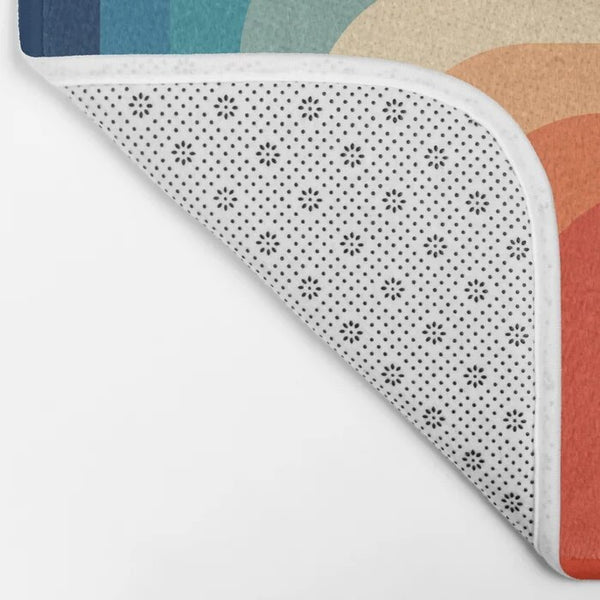 Retro colour bath mat