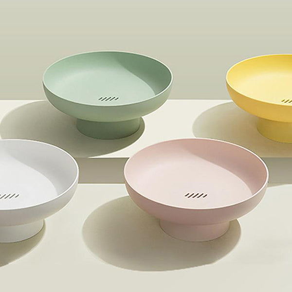 Modern fruit bowl stand - White, pink, green, yellow