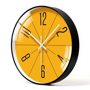 Modern orange Even wall clock