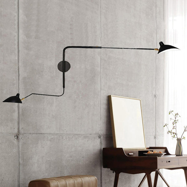 Modern and stylish black spider wall light