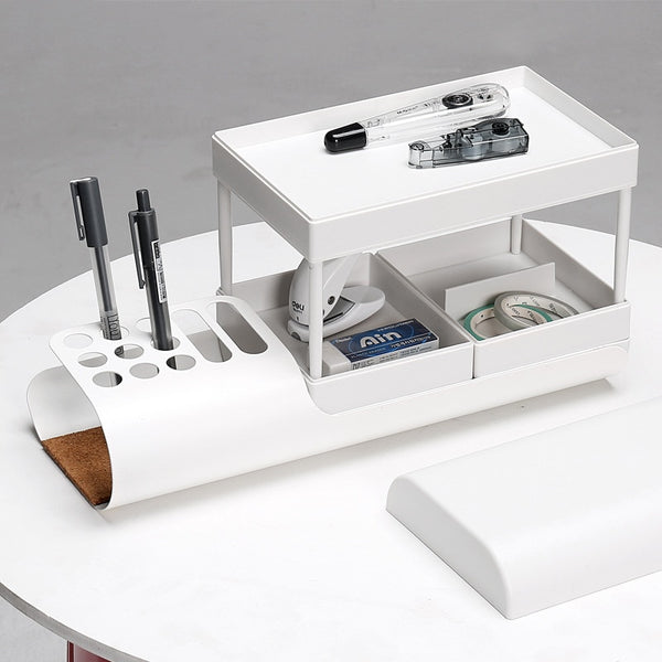 Modern retro curved desk organiser