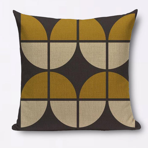 Modern graphic cotton linen large leaf cushions