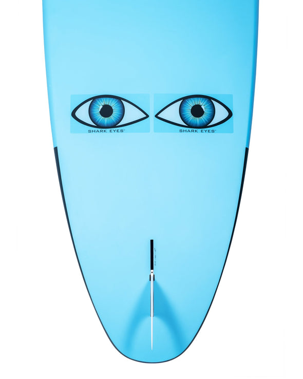 Shark-Eyes-stickers-visual-shark-deterrent-sahrk-repellent-clear-on-surfboard