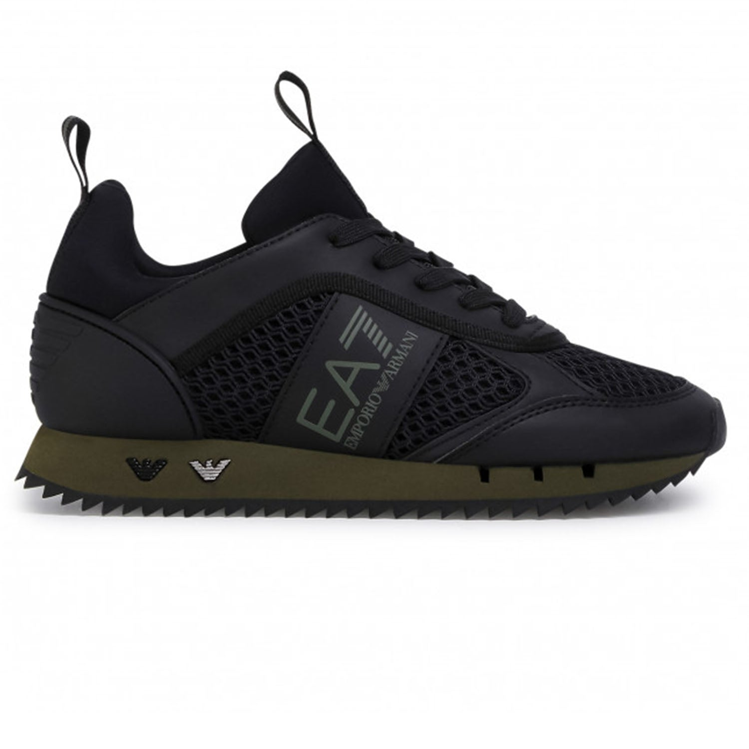 EA7 Black/Khaki Trainers