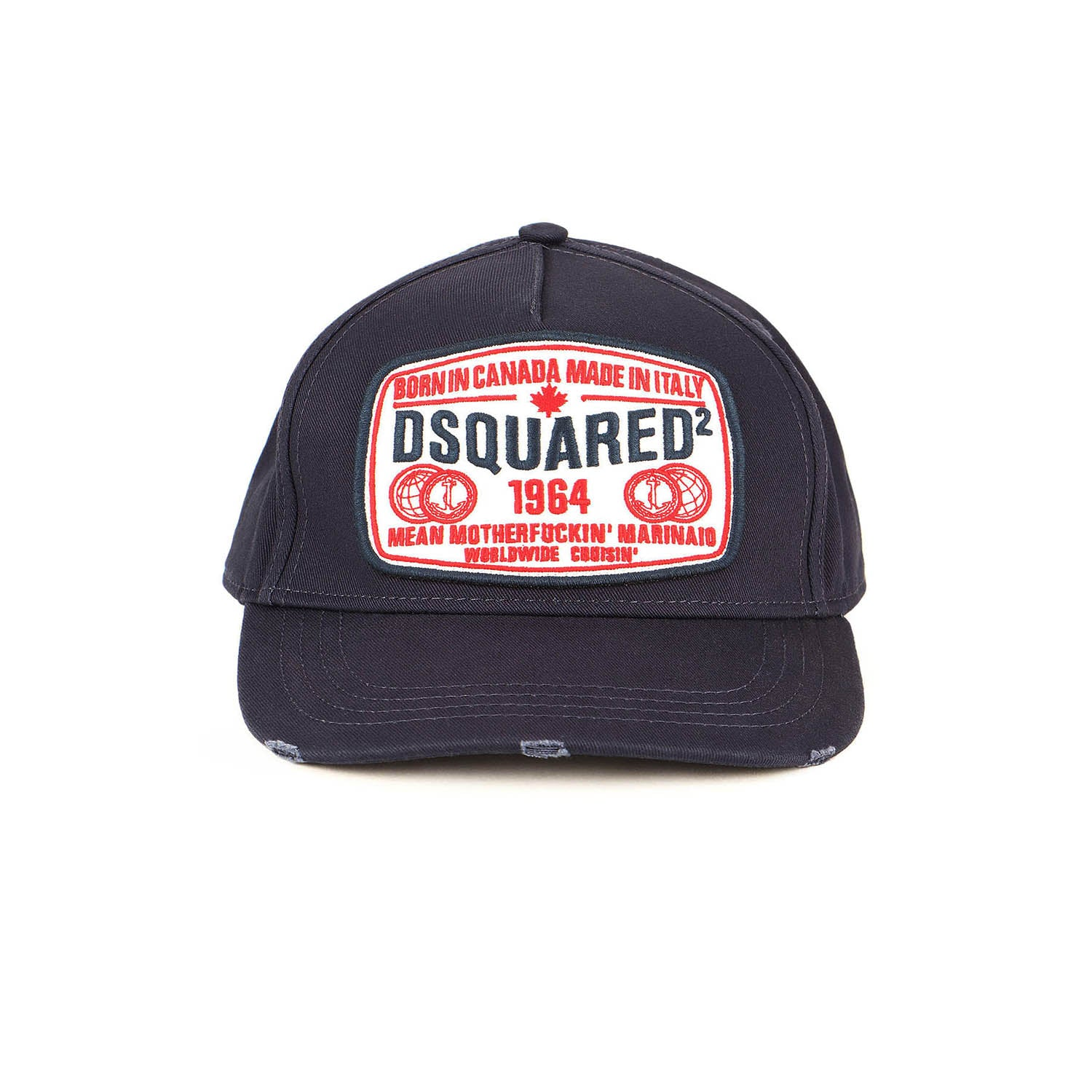 DSquared2 Embroidered Patch Cargo Baseball Cap