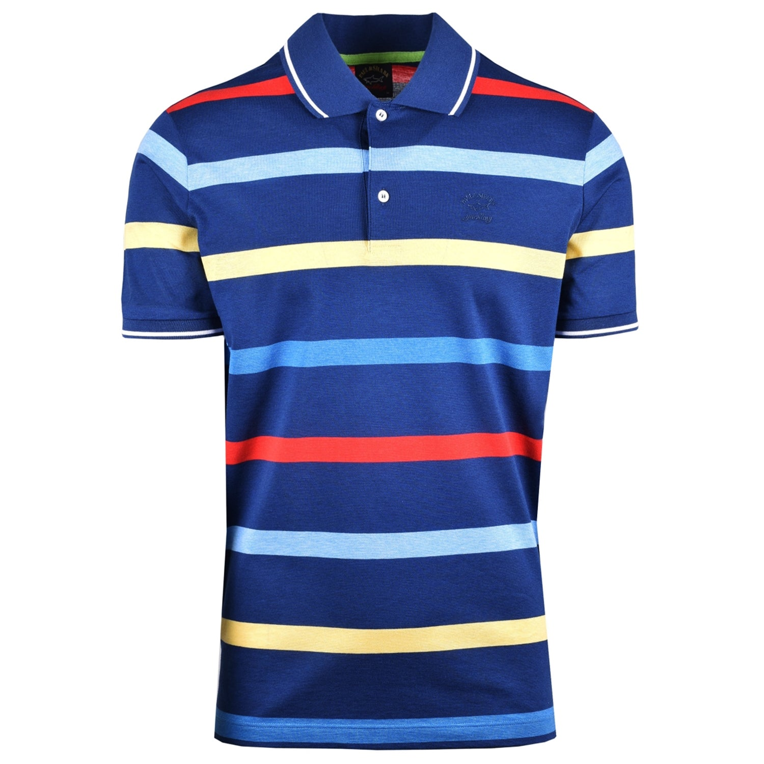 Paul & Shark Pique Cotton Striped Polo T-Shirt