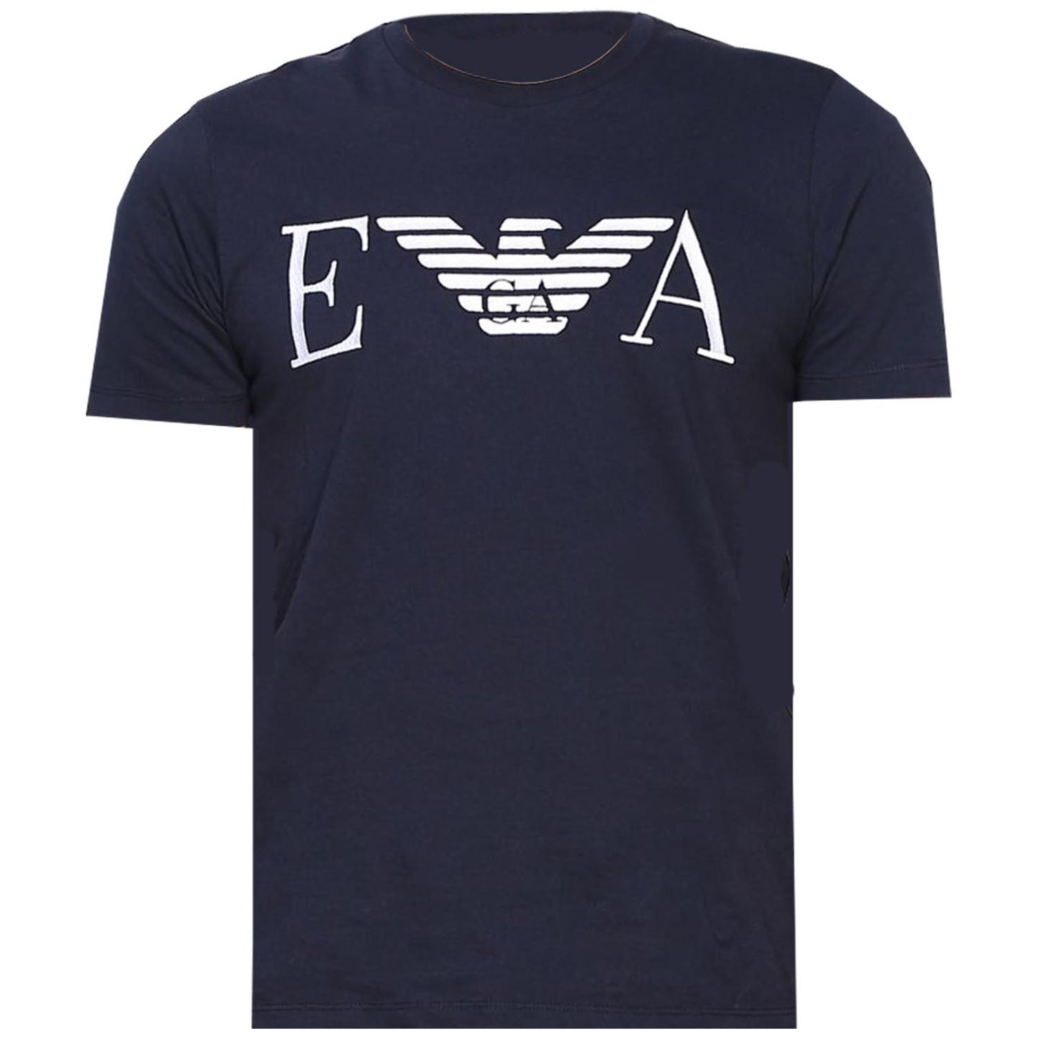 Emporio Armani Embroidered T-Shirt Navy