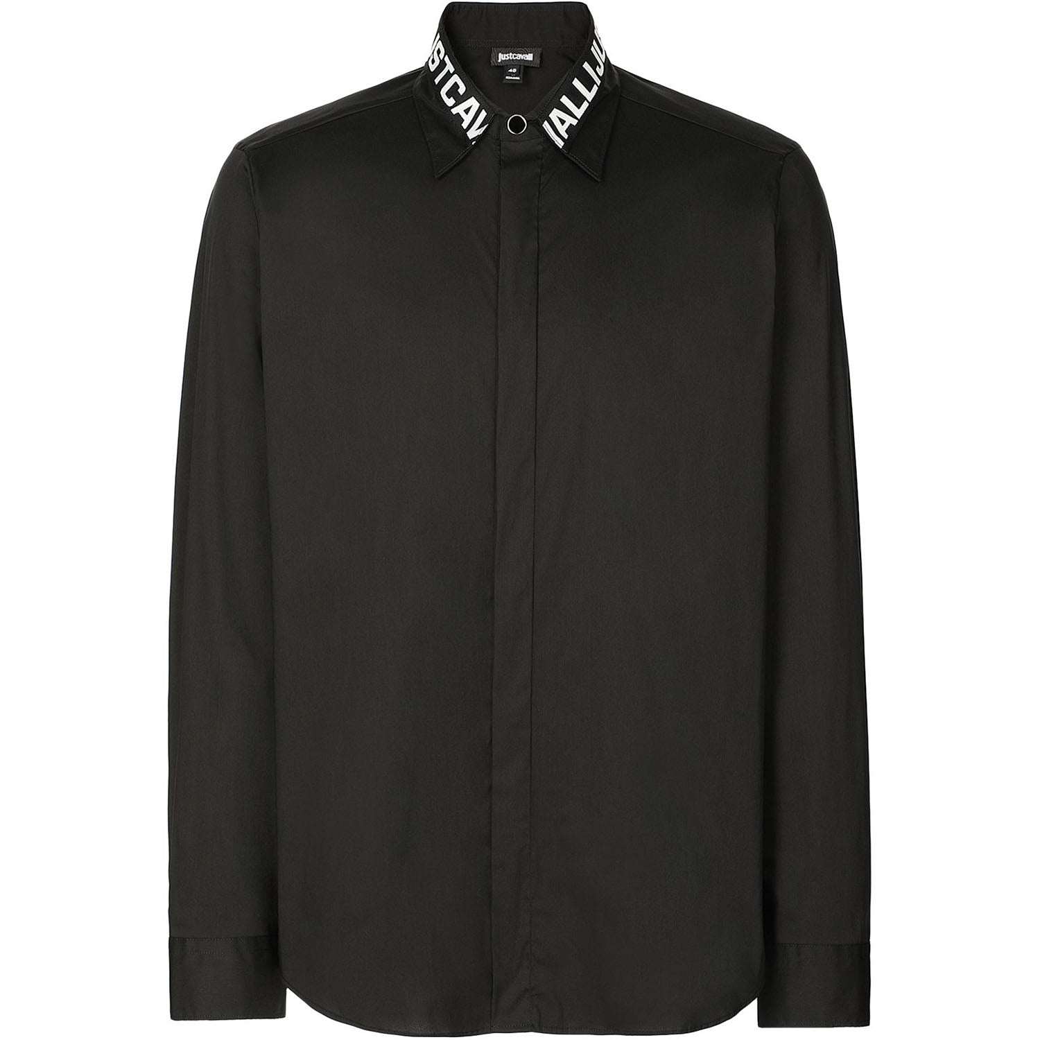 Just Cavalli Logo-Collar Long Shirt