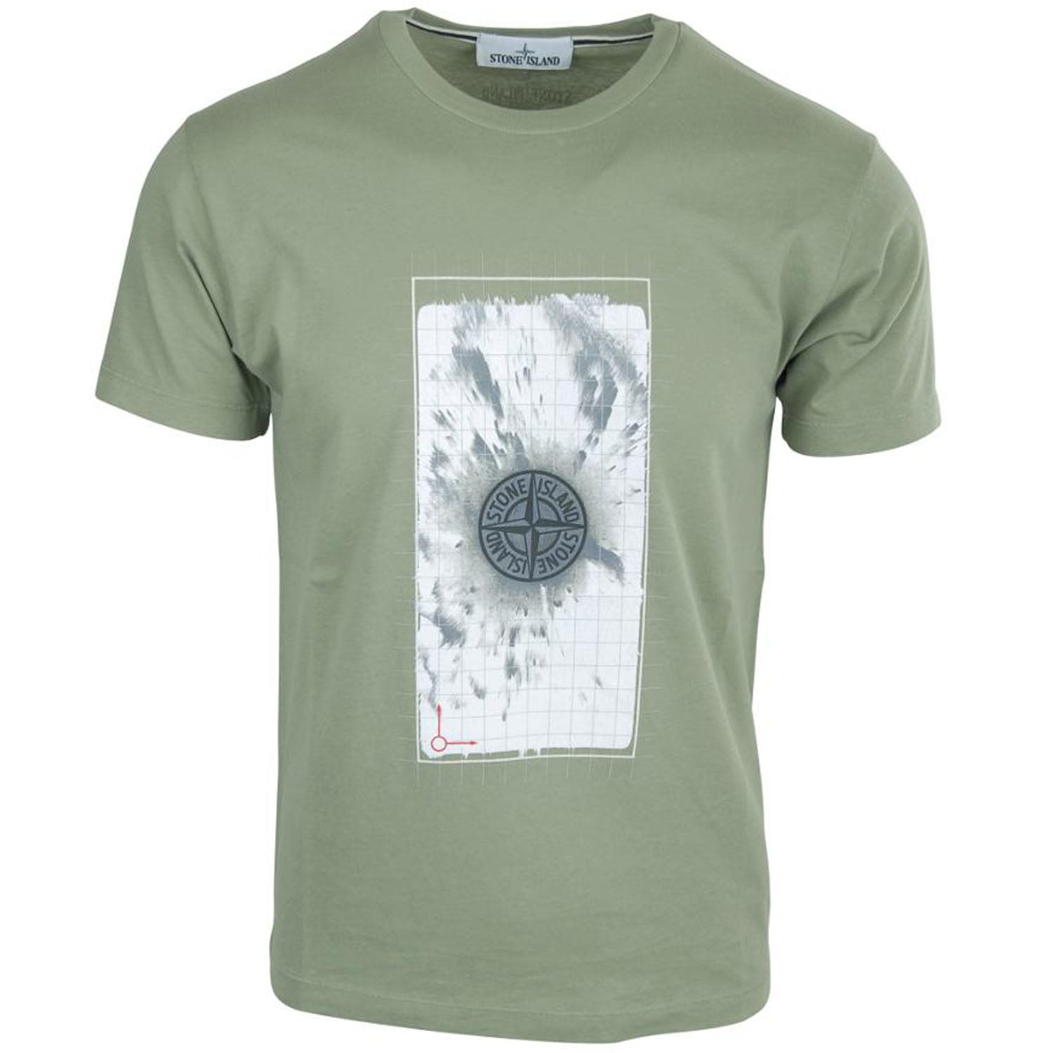 Stone Island Front Print T-Shirt Green