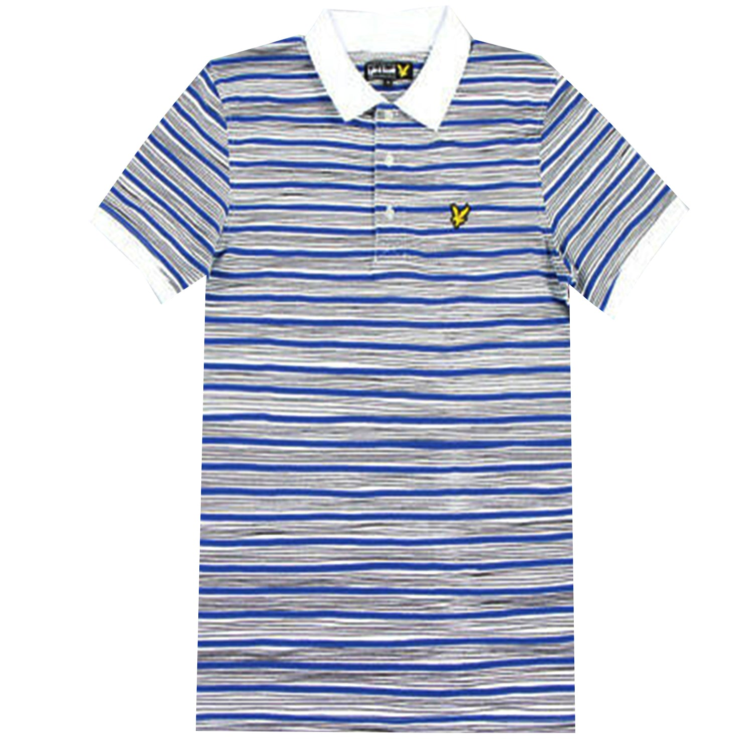 Lyle & Scott Hand Drawn Stripe Printed Polo T-Shirt