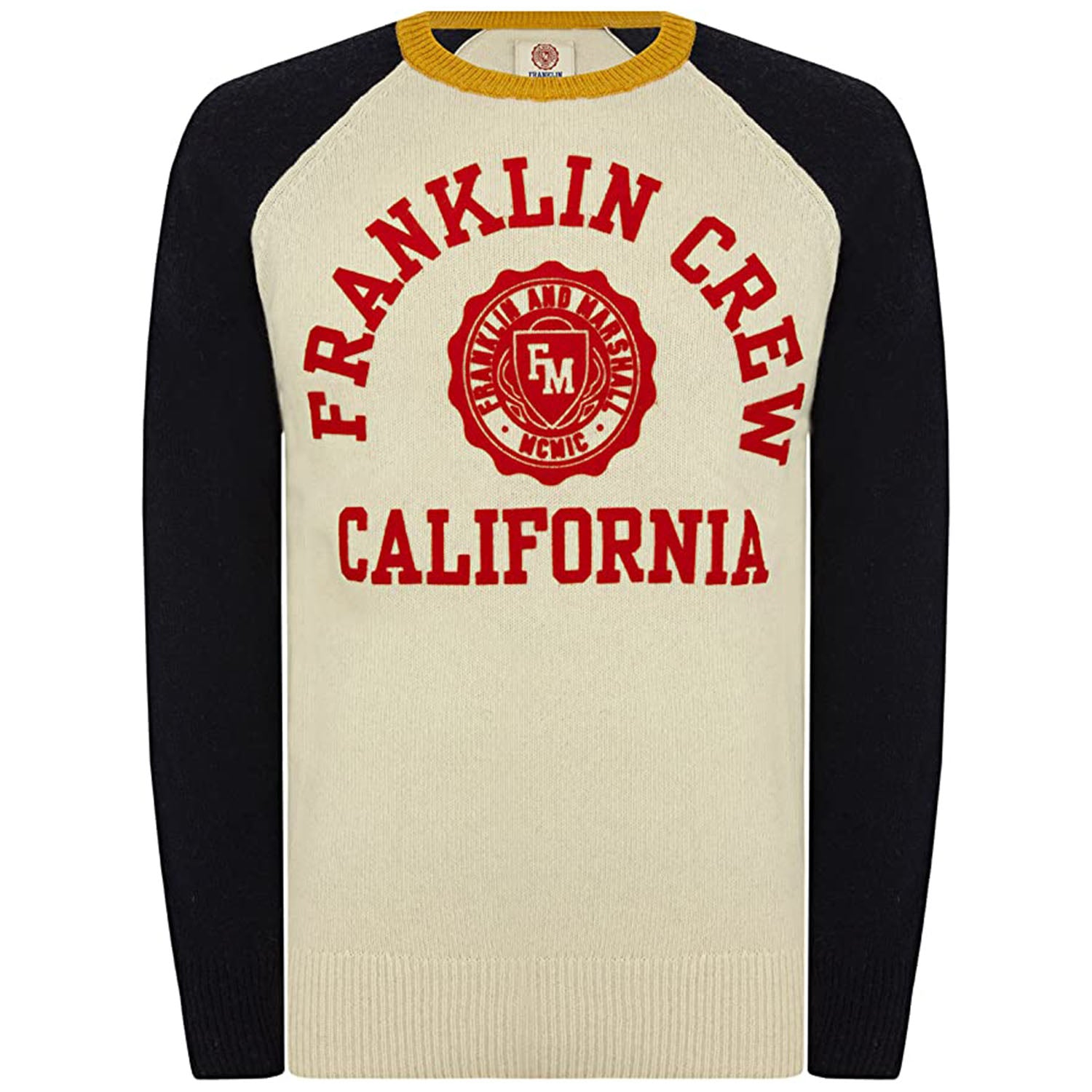 Franklin & Marshall California Logo Knitted Jumper