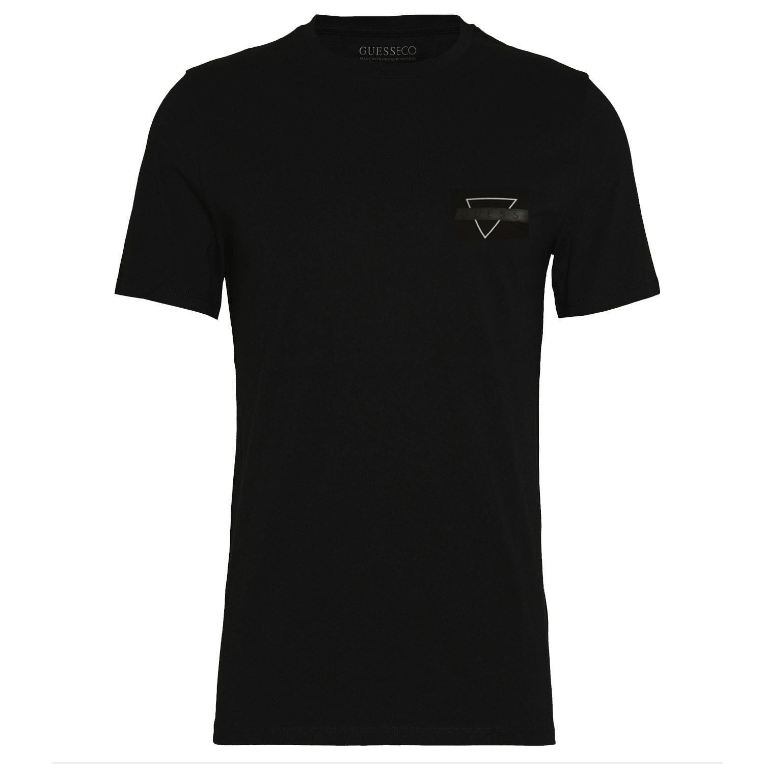 Guess Slim Fit Triangle Logo Print T-Shirt