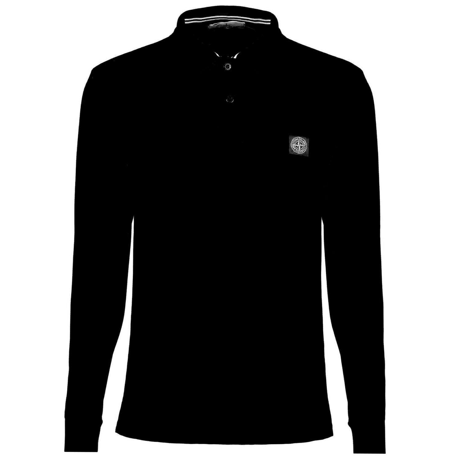 Stone Island Regular Fit Patch Logo Polo T-Shirt