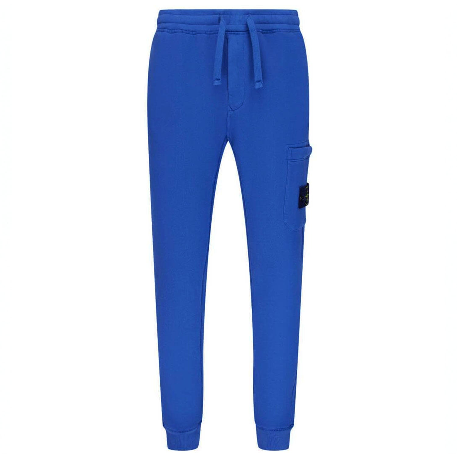 Stone Island Badge Logo Jogging Sweatpants Blue